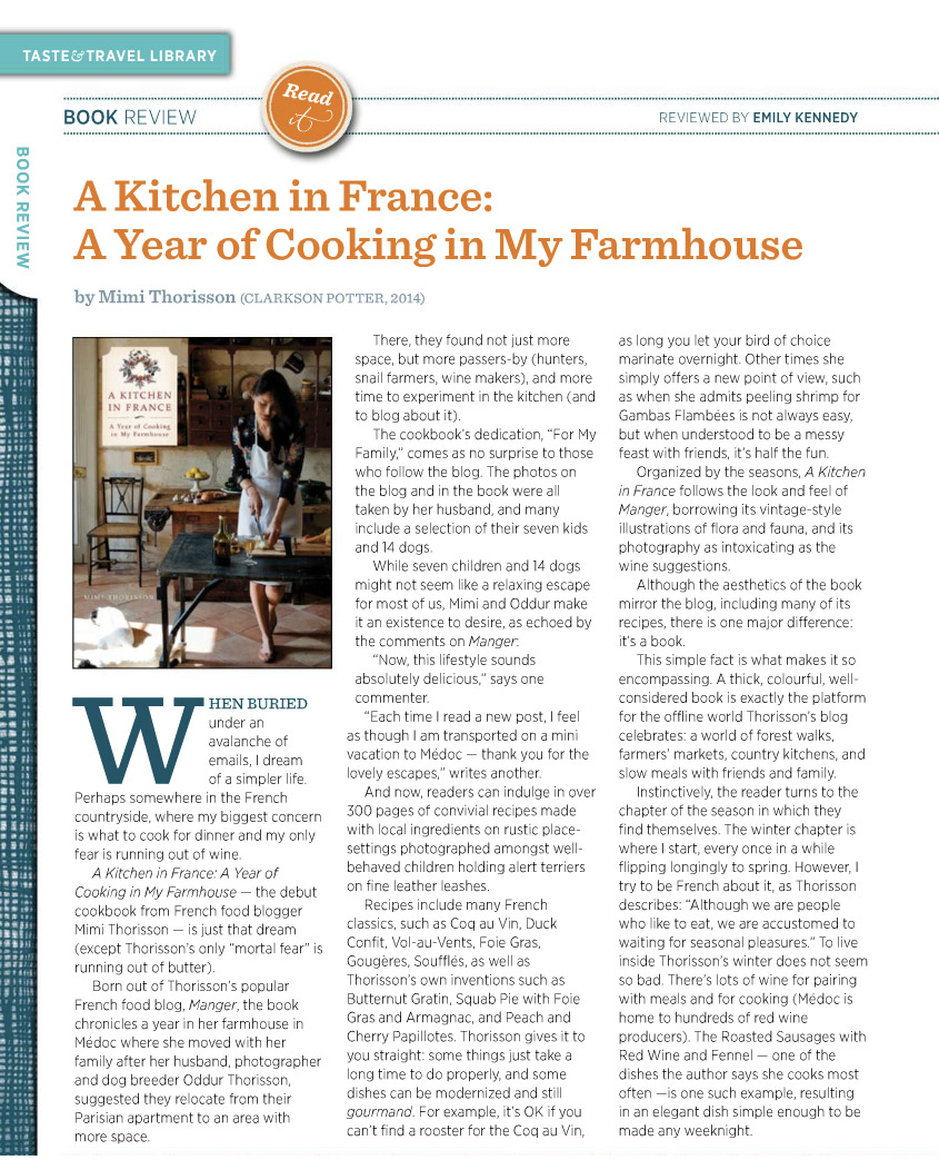 Book Review: A Kitchen In France by Mimi Thorisson - Emily Kennedy ...