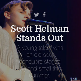 Scott Helman Stands Out