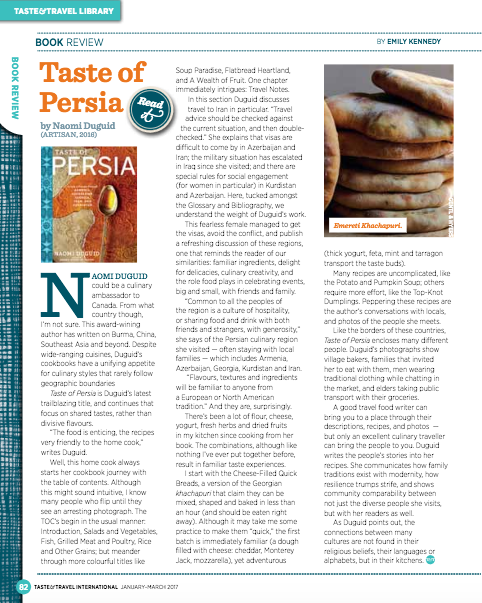 Taste of Persia bookreview