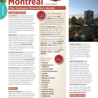 The Culinary Traveller's Guide To Montreal